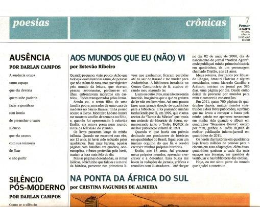10 05 2014 Pensar A Gazeta